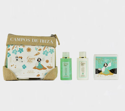 Flor de Almendra travel set bodymilk, showergel and soap