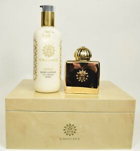 Gold Woman limited wooden giftbox Eau de Parfum 100 ml and 300 ml Bodylotion