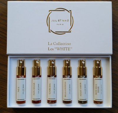 Les WHITE Discovery Set 6x7 ml refillable sprays