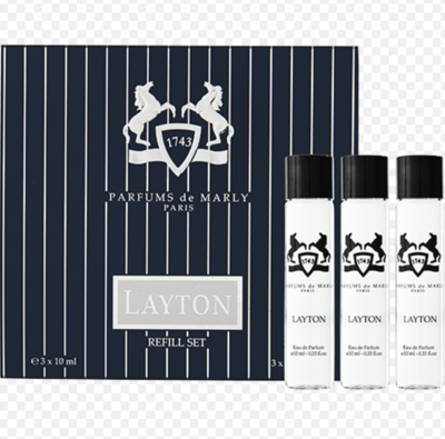 Layton Eau de Parfum Travel Set refil 3x10 ml